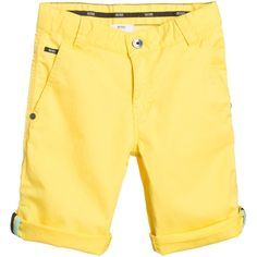 Boss Boys Yellow Bermuda Cotton Shorts