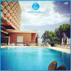 #Relaxing Early Morning at the #Pool at Poseidonia Beach Hotel! #BlueWaters #BeautifulSky and #DeliciousDrinks!  Unwind and leave your stress at our door... #Cyprus #Limassol