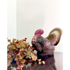 Indoor Planter Pot Large Turkey Centerpiece Vase For Floral... ($25) ❤ liked on Polyvore featuring home, home decor, floral decor, artificial floral arrangement, faux florals, vintage pots and floral centerpieces