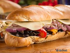 Overstuffed Grilled Veggie Hoagie - We like to add jalapenos sometimes to give it a little extra spice! #vegetarian