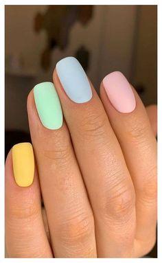 Cute Acrylic Nails, Acrylic Nail Designs, Cute Nails, Pretty Nails, Nail Art Designs, Spring Nails, Summer Nails, Palette Pastel, Easter Nail Designs