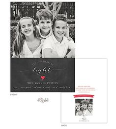Chalkboard Let Your Heart Be Light Flat Digital Holiday Photo Card | Pen and Ink
