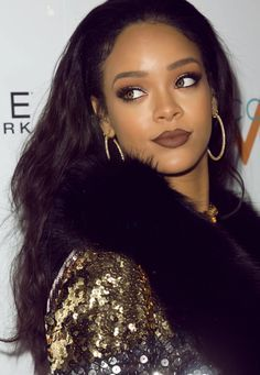 rihanna brown lipstick - Google Search