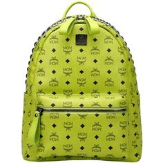 MCM Backpack Zipper Stark Mini Studded Green. JE Law 1528810fbe854