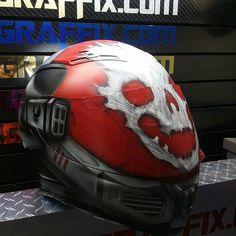 Custom Airbrushed Motorcycle Helmet by Airgraffix.com 221