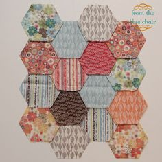 A great 3 post tutorial about cutting, and machine piecing hexagons. I found this super helpful and that this method works wonders making lovely points!