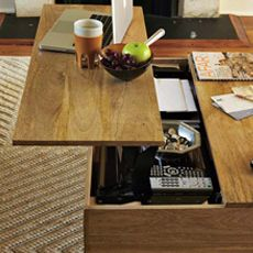handy coffee table - sure, one day I'll stop eating on the couch in front of the tv, but that day is not today and this table would be handy