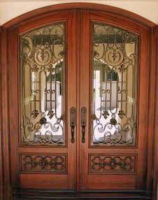 Wood doors with iron 14