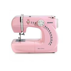 Need small sewing machine for travel help ❤ liked on Polyvore featuring fillers, decor, pink, extra and house