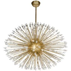 Mid-Century Modern Sputnik Chandelier with Handblown Murano Glass Teardrops | From a unique collection of antique and modern chandeliers and pendants  at https://www.1stdibs.com/furniture/lighting/chandeliers-pendant-lights/