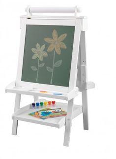 Vielseitige Kinder-Staffelei aus Holz - strahlend weiß lackiert
