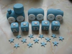 *SALE* HANDMADE EDIBLE TRAIN CAKE DECORATION SET BIRTHDAY CHRISTENING DECORATION | eBay