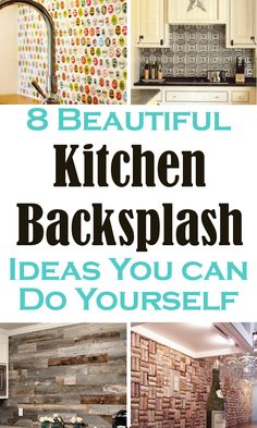 Beautiful Kitchen Backsplash Ideas You Can Do Yourself. Number 3 is beautiful! Perfect for our 1960 farmhouse.