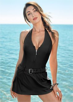 c89ca5fdcf Buy SANQI Polka Dot Swimdress at YesStyle.ca! Quality products at  remarkable prices. FREE SHIPPING to Canada on orders over CA$ 45.    Swimsuits   Swim dress ...