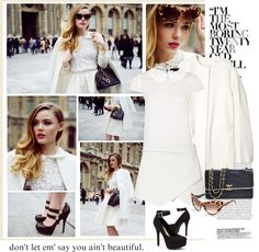 """Amazing White"" by ellie366 ❤ liked on Polyvore"