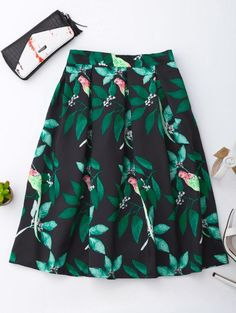 SHARE & Get it FREE | Leaf And Birds Print SkirtFor Fashion Lovers only:80,000+ Items • New Arrivals Daily Join Zaful: Get YOUR $50 NOW!