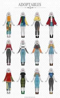 Fashion drawing clothes style character design ideas for 2019 Anime Outfits, Mode Outfits, Retro Outfits, Grunge Outfits, Vintage Outfits, Casual Outfits, Female Outfits, School Outfits, Winter Outfits