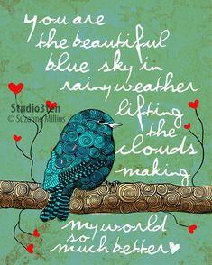 Du bist mein blauer Himmel / original Abbildung ART von studio3ten