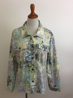 ae54b9d0561 Analogy Beige   Rose Multicolor Sz MEDIUM Embroidered Floral Women s Jacket