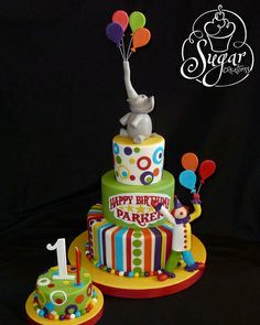 Circus birthday cake Circus Party #circus #party carnival birthday boys girls kids cake