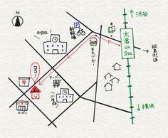 3-10. 地図はわかりやすくシンプルに   4色ボールペンで!かわいいイラスト描けるかな