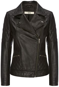 Oasis Stevie Leather Jacket, Black Available Sizes: XS,S,M,L Description:  Invest in a truly timeless staple with this leather crafted jacket from Oasis