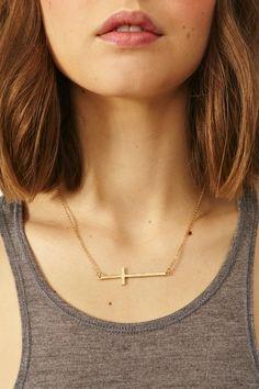 Fallen Cross Necklace
