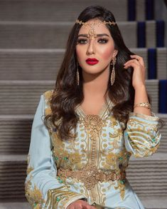Caftan Dress, Kaftan, Moroccan Caftan, Swag Style, Muslim Fashion, Wedding Looks, Different Styles, Marie, Sequin Skirt