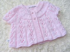Hand Knitted Baby Cardigan by jayceeoriginals on Etsy