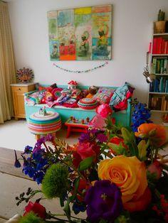 Haken bij Saar en Mien! I love these colours :-)