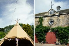 Tipi, fairy lights and hand made bunting = perfect!