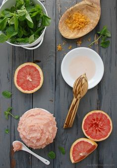 invigorating whipped grapefruit peppermint body sugar scrub with coconut oil
