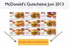 McDonalds Gutscheine Juni 2013.