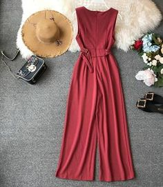 Winter Fashion For 60 Year Olds High Waist Sleeveless Rompers Jumpsuits Putshy.Winter Fashion For 60 Year Olds High Waist Sleeveless Rompers Jumpsuits Putshy Rompers Women, Jumpsuits For Women, Girl Fashion, Fashion Dresses, Modest Fashion, Fashion Tips, Rehearsal Dinner Outfits, Romper With Skirt, Long Jumpsuits