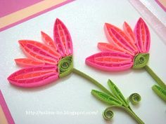 Lin Handmade Greetings Card: Bright and sweet coloured flowers Quilling Comb, Paper Quilling Flowers, Paper Quilling Patterns, Quilling Paper Craft, Quilling Designs, Paper Crafts, Quilling Ideas, Dyi Crafts, Paper Art