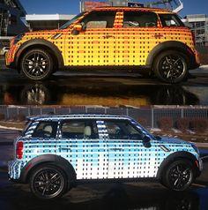 MINI Art Car By  Artist Cassandra Lillard. Two toned MINI cooper