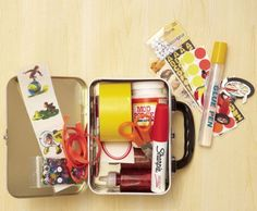 Lunch box craft kit.