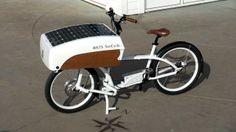 Bicicleta elétrica é movida a energia solar