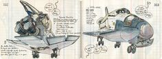 Les illustrations de Lapin - sketchbooks - Air & Space Museum