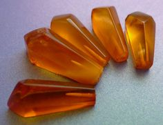 Vintage USSR polished Orange Honey Cognac colour by ForCollecting