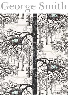 """BENNISON FABRICS NEWEST DESIGN """"TREE SCAPES"""" Available in both fabric and wallpaper Please contact the George Smith Showroom for pricing and samples 310.360.0880"""