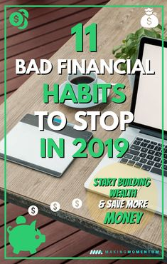 Are you looking to save more money and reach your financial goals in One of the best ways to make progress is to stop wasting money and better manage your spending! Check out these 11 bad financial habits to stop if you want to save and make more money! Make More Money, Ways To Save Money, Money Tips, Money Saving Tips, Money Budget, Budgeting Finances, Budgeting Tips, Financial Goals, Financial Planning