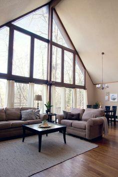 I really like this home.  It has character and I love the whimsical touches.  Zombie references, book stacks on the floor, and string lights...my kind of things!  And it has a wood shingle roof over the kitchen, like I have in my basement.  So, if they can live with theirs, maybe I can tolerate mine for a little longer.