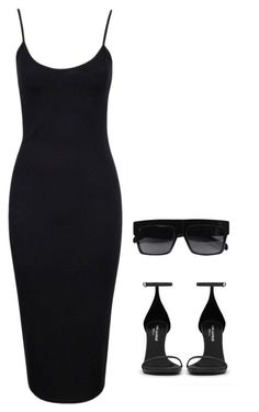 """""""untitled#15"""" by hebashk ❤ liked on Polyvore featuring Yves Saint Laurent, Boohoo and CÉLINE"""