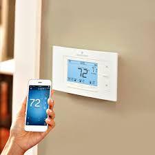 Sensi Smart Thermostat, Wi-Fi, Works with Amazon Alexa with Wall Plate for Sensi (White)