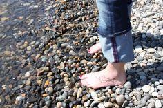 Shark tattoo on foot
