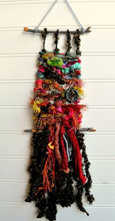Woven Wall Hanging Colorful Wall Decor Fiber Art by SimpleChaosLab