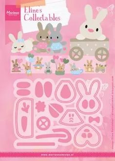 Hello little one Baby Bunnies, Cute Bunny, Adorable Bunnies, Foam Crafts, Paper Crafts, Boutique Scrapbooking, Marianne Design Cards, Card Tutorials, Book Making