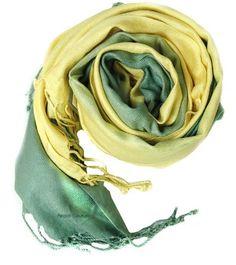 Lemon Lime Tie-Dye Pashmina Shawl/ Wrap Peach Couture. $14.95. Save 63%!