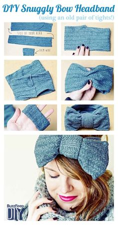 Tights Turned Headband [minus the hideous, giant bow!] | 17 DIY Accessories To Keep You Cozy This Winter